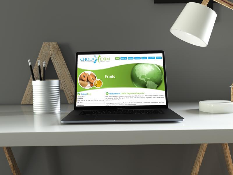 Exports Imports Website Design Company